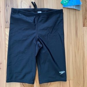 Speedo Training Shorts Sz 30 NWT Black